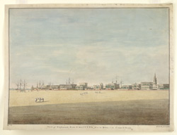 View of Esplanade Row Calcutta from the river to the Council House